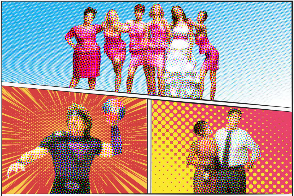 Cover images of bridesmaids (movies), The Other guys and Dodgeball