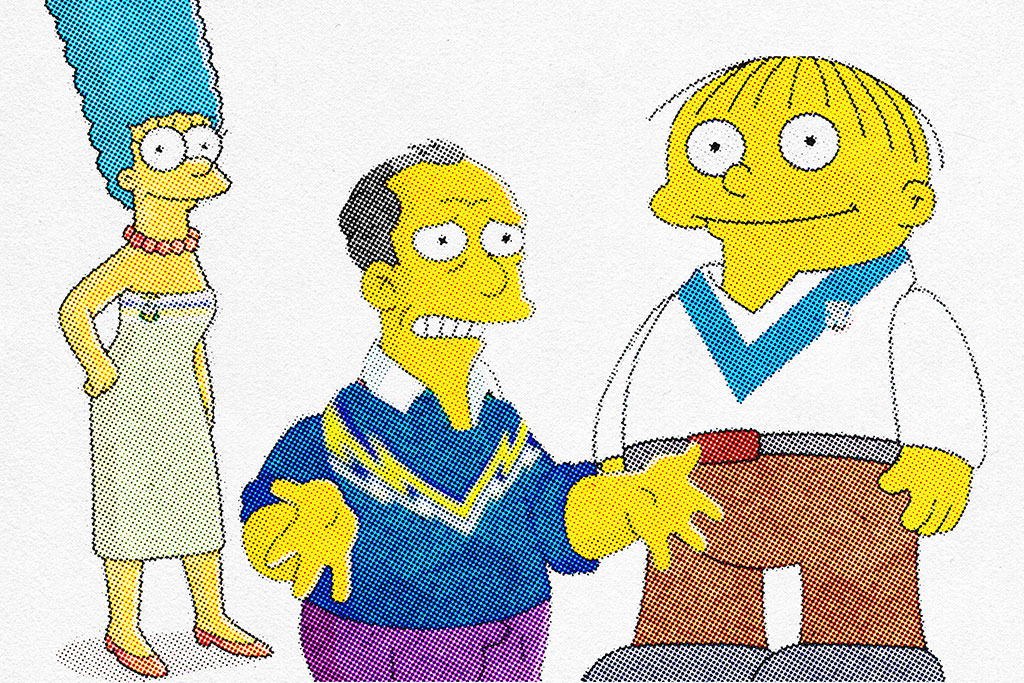 Simpsons Characters as NRL Teams